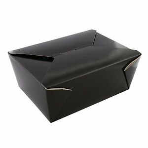 Royal 4 Black Folded Takeout Box 7 3 4 X 5 5 X 3 5 Package Of 40