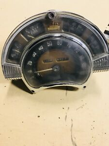 Vintage 1950s Chrysler Instrument Panel Speedometer Dash Gauge Cluster Very Cool