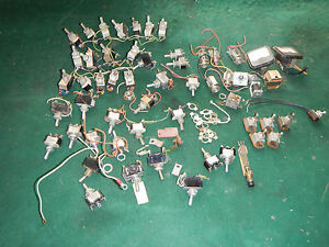 55 Vintage Toggle Button Dial Momentary Switches Jewel Dash Light Indicator