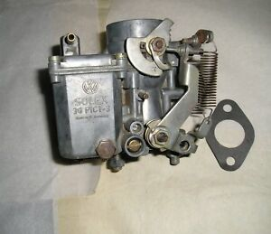 Solex 30 Pict 3 Carburetor 1970 Vw 1600 Single Port Engine German