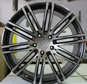 21 Inch Rims Fit Porsche Macan Base Turbo S Gts Turbo 2 2018 Staggered Wheels