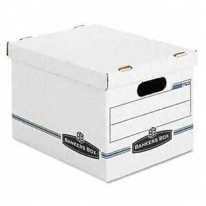 Bankers Box Stor file Storage Box Letter legal Lift off Lid White blue 12 carton