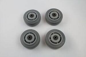Gray Hard Rubber Caster Wheels 5 X 2 lot Of 4
