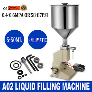 A02 Pneumatic Liquid Paste Filling Machine 5 50ml Pesticides Cream Equipment