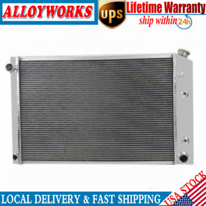 3 Row Core Aluminum Radiator Fits 1981 1991 82 85 89 Chevy Truck 21 X 33