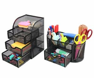 Pag Office Supplies Mesh Desk Organizer Set Pen Holder Accessories Storage Caddy