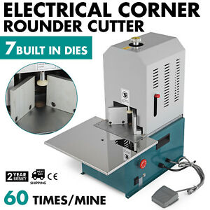 Electrical Corner Rounder Cutter Machine With 7 Dies W drawer For Cards Pvc Film