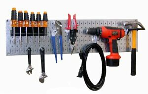 Wall Control 30 wrr 100gvb Galvanized Steel Pegboard Starter Kit