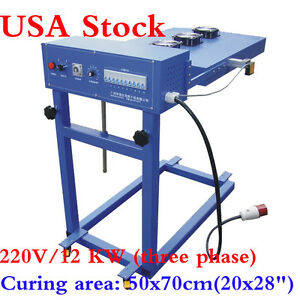Usa 220v 20 x28 Automatic Flash Cure Unit For Screen Printing Machine 12kw