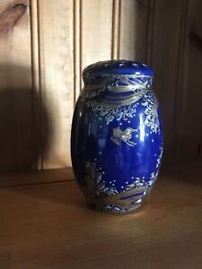 Antique Cobalt Muffineer Hand Painted Porcelain
