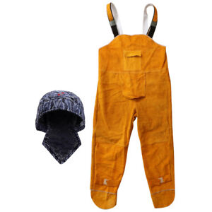 Welding Flame Retardant Hat Cap Scarf Welding Coverall Jacket With Pocket