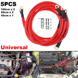Professional Red 5 Point Car High Performance Grounding Earth Cable Wire Kits