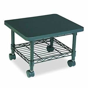 Rolling Under Desk Table Printer Fax Cart Stand Office Computer Shelf Black New