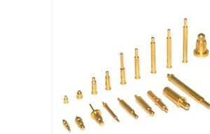 1000x Copper Gold Plating Plated Current Pogo Pin Probe Spring Loaded Smt 9mm
