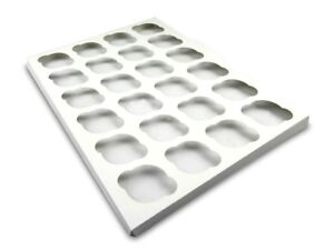 W Packaging Wp1419ci24c 14x19 White white Cupcake Insert With 24 Cavitites For
