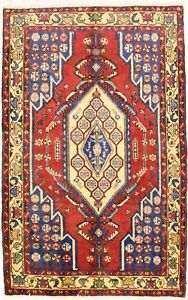 4x7 Delightful Rare Vintage Mazlaghan Persian Rug Oriental Area Carpet 4 1x6 6