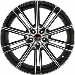 4 Gwg Wheels 22 Inch Black Machined Flow Rims Fits Ford Mustang V6 2015 2018