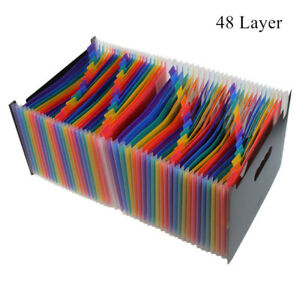 48 Layer Pockets Expanding File Folder Works Accordion A4 Document Organizer