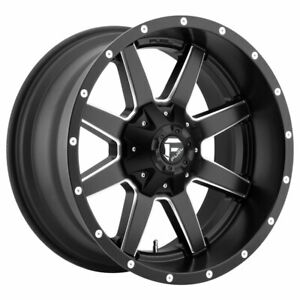 Fuel Maverick D538 Rim 24x8 25 8x200 Offset 176 Black Milled quantity Of 4