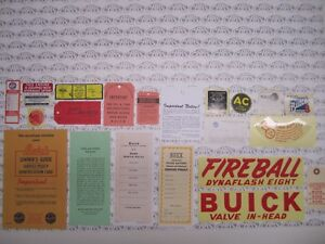 1948 Buick Roadmaster Engine Interior Decal tag Kit Set Of 21