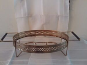 Mid Century Modern Chafing Dish Casserole Metal Stand Accessory