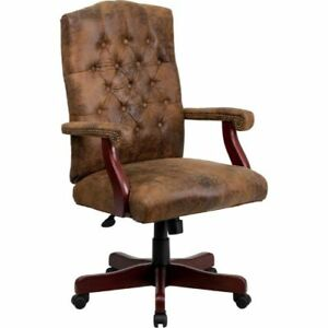 Bomber Brown Classic Executive Swivel Office Chair Fla802brngg