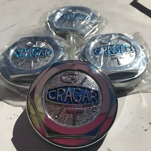 4 Cragar Gt G t Wheel Rim Center Caps Chrome Metal Aluminum 3 3 1 4