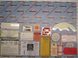 1960 Buick 4 Bbl Engine Interior Decal Tag Kit Set Of 19
