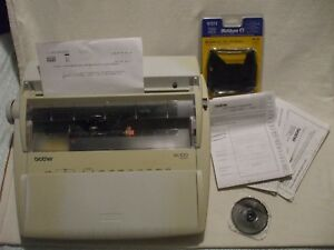 Brother Ml100 Electric Daisy Wheel Typewriter Manual New Ink Ribbon Tested