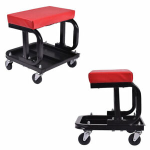 Rolling Creeper Seat Mechanics Stool Chair Repair Tool Tray Shop Us Shipping