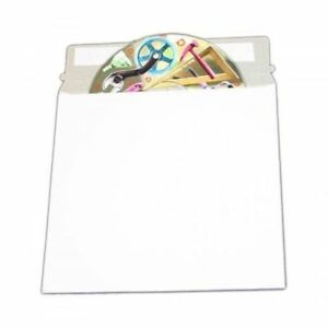 100 Cd dvd White Cardboard Mailers Self Seal Mailers With Flap 6 X 6 3 8