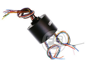 New 12wires 380v Ac dc 10a 25 4mm Dia Metal Capsule Conductors Slip Ring Blue