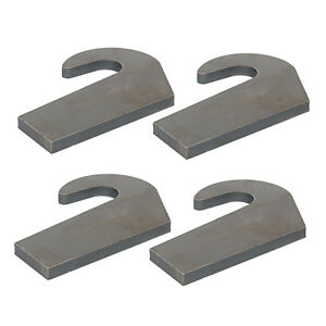 Weld on 4 Mounting Brackets For Pin Type Over The Bucket Loader Pallet Forks