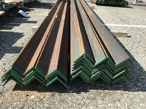 40 3 X 3 X 1 4 Structural Steel Angle Iron 10 Ft Lengths