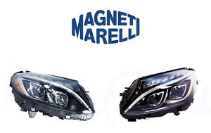 New Mercedes Set Of Left And Right Xenon Headlights Marelli Lus7462 Lus7461