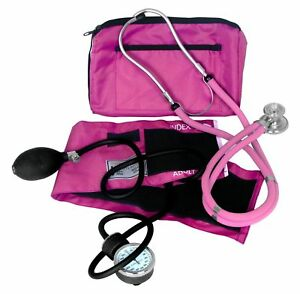 Dixie Ems Blood Pressure And Sprague Stethoscope Kit Pink New Free Shipping