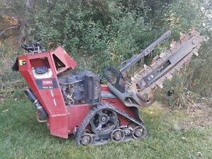 2013 Toro Trx20 Walk Behind Trencher With Trailer