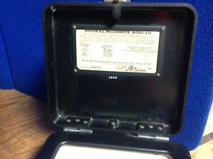 Vintage Weston Electric Instrument Model 622 Dc Volt D c Millivoltmeter