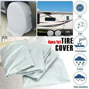 4pcs Wheel Tire Covers For Rv Truck Car Auto Camper Trailer 28 Inch Diameter