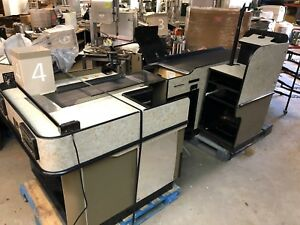 2006 Royston Ul 2 Checkout Grocery Store Retail Counter Belt With Bag Stand