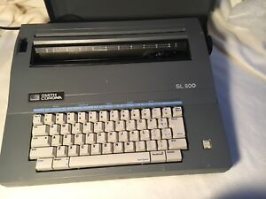 Smith Corona Sl 500 Electric Portable Typewriter With Cover Works