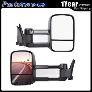 For 1988 1998 Chevy Gmc C10 C k 1500 Pickup Truck L r Power Towing Mirrors