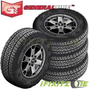 4 X New General Grabber Apt 245 65r17 107t Owl Tires