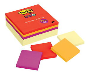 Post it Super Sticky Notes 3 X 3 In Canary Yellow And Marrakesh Colors Pad Of