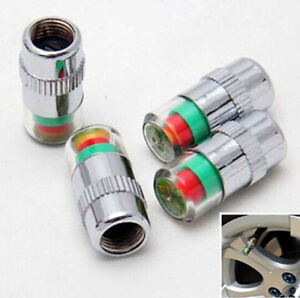 4pcs Car Auto Tire Monitor Valve Dust Cap Pressure Indicator Sensor Eye Alert Ch