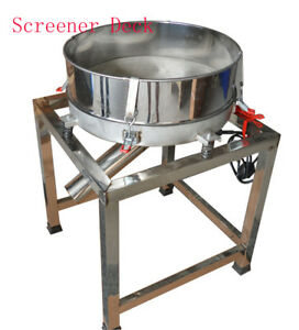 110v Electric Sieve round Deck Screener vibrating Screen screening Dry Materials