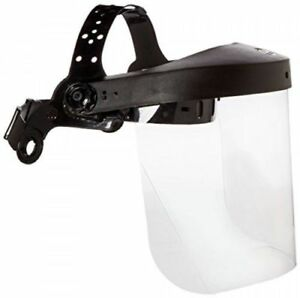 Neiko 53819a Safety Headgear Face Shield With Visor Clear Polycarbonate