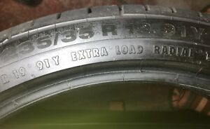 4 Gently Used 235 35r19 91y Continental Sport Contact Tires Very Low Miles