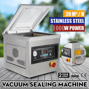 1000w Automatic Vacuum Packing Sealing Sealer Machine Commercial Chamber 20m h
