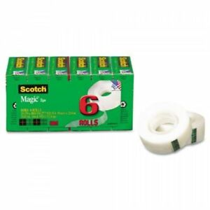 Scotch Magic Tape 3 4 X 1000 Inches Boxed 6 Rolls 810k6